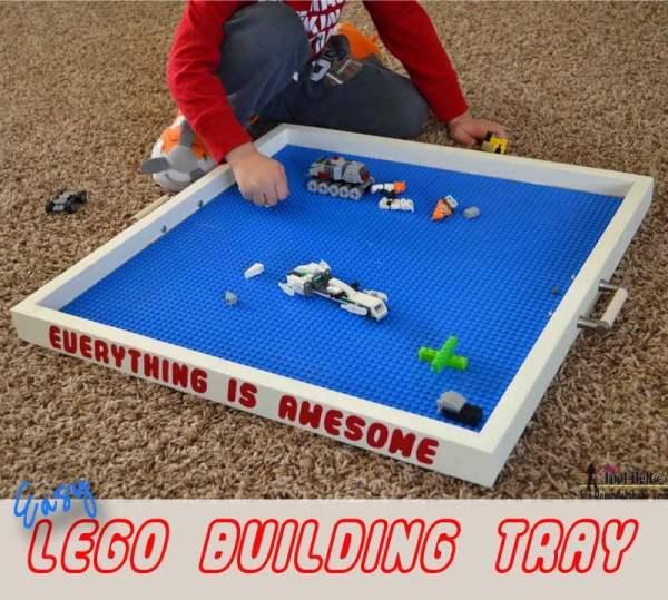 Easy Lego building tray