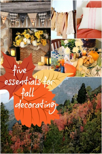Essentials in Fall Decorating @Remodelaholic