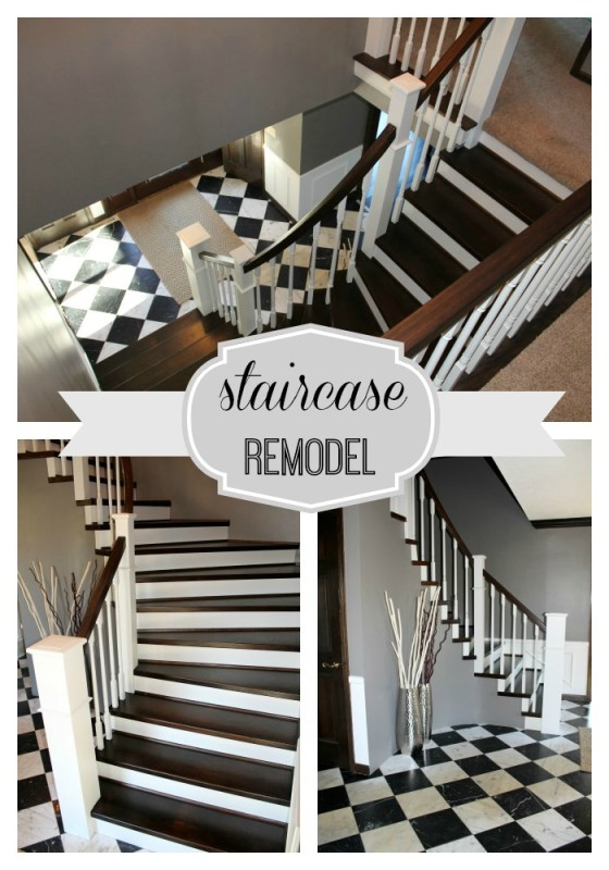 Handrail and Staircase Remodel - Construction2Style via @Remodelaholic