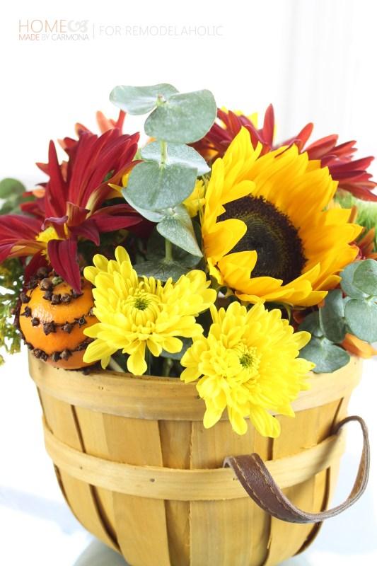 Pomander and flowers - HMBC for Remodelaholic
