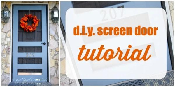DIY Screen Door Tutorial via Remodelaholic.com