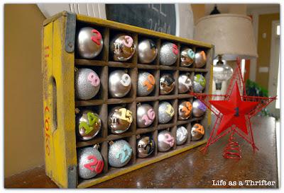advent calendar ornaments