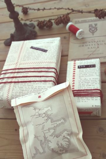 book pages gift wrap