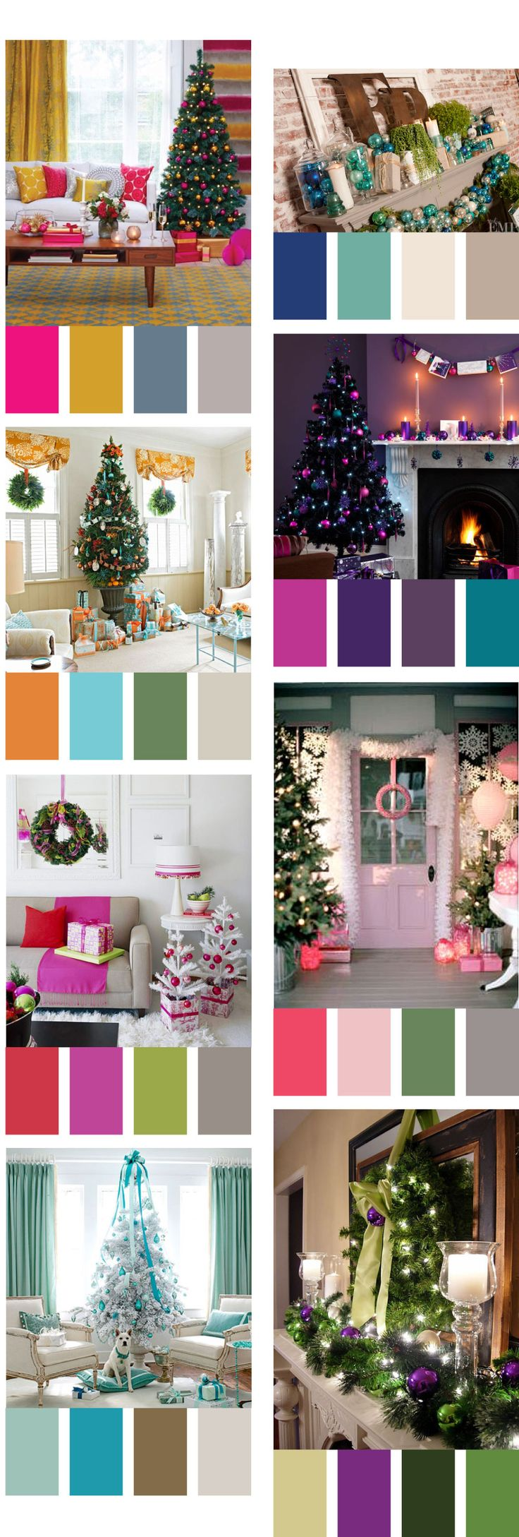 Christmas Color Schemes.Remodelaholic Decorating With Non Traditional Christmas Colors