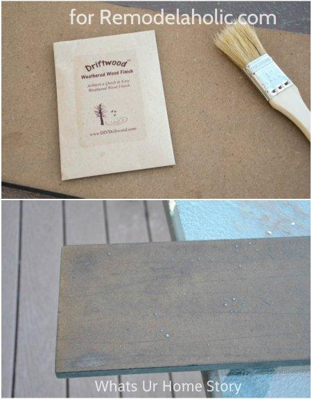create a driftwood finish
