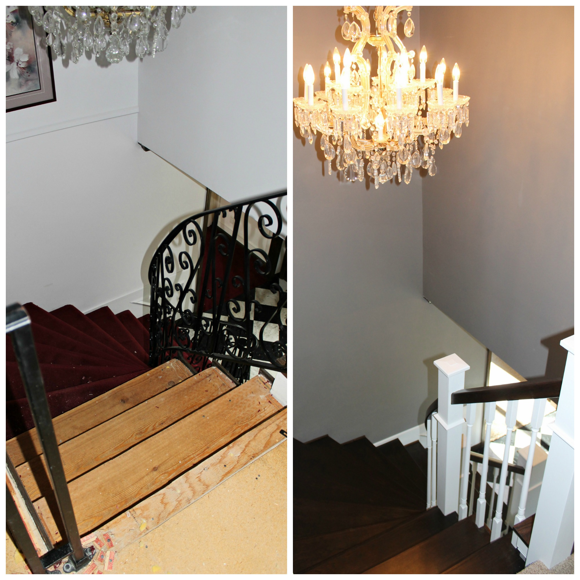 Curved Staircase From Carpet To Wood With New Railing   Construction2Style  Via @Remodelaholic ...