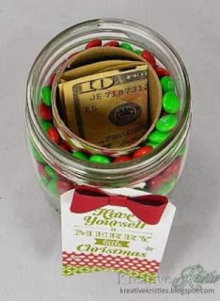 hidden gift mason jar