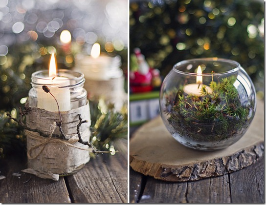 holiday decor birch candles