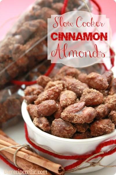 holiday neighbor gift - slow cooker cinnamon almonds - The Recipe Critic