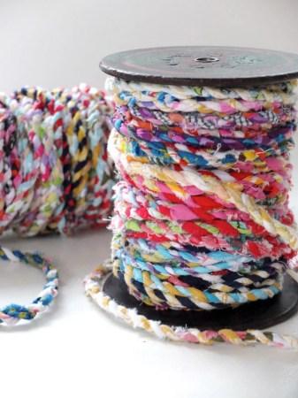 scrap fabric twine ribbon