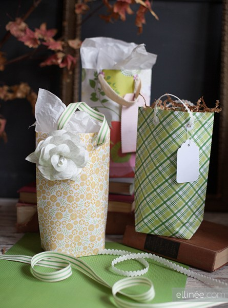 scrapbook paper gift bags