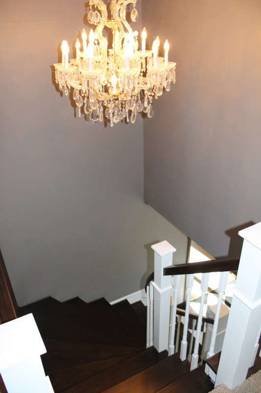stairway after wood staircase remodel - Construction2Style via @Remodelaholic