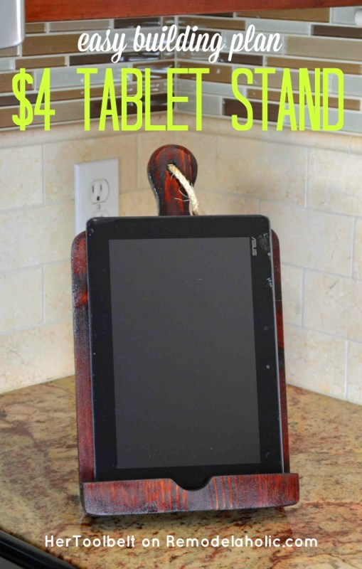 DIY Tablet Stand Tutorial - just $4 to make this! @Remodelaholic
