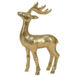 Hot Pink Christmas Gold Deer
