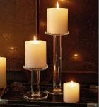 Hot Pink Christmas Pillar Candle