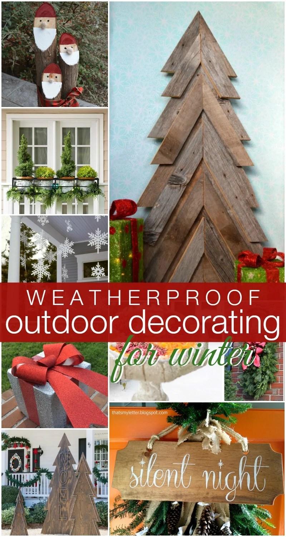 Remodelaholic | DIY Outdoor Decor for Winter on Easy Diy Garden Decor id=33855
