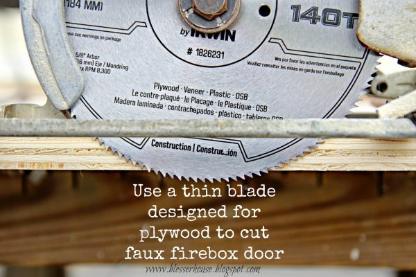 building a faux fireplace - Blesser House featured on @Remodelaholic
