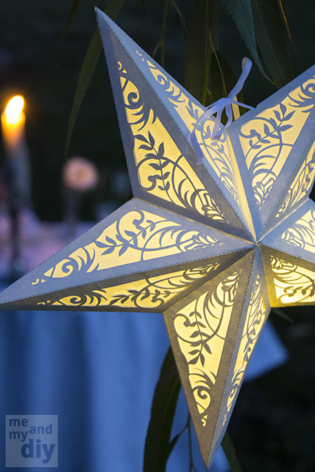 cut paper star lantern luminary - Me and My DIY via @Remodelaholic