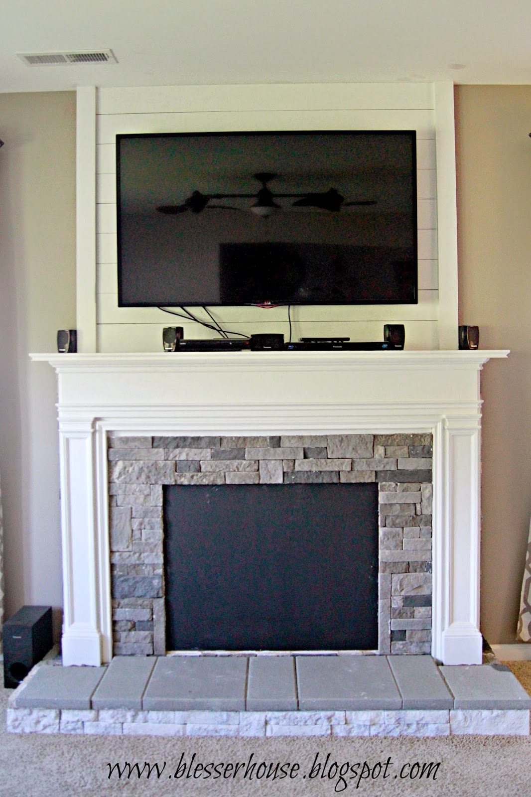 Super Remodelaholic How To Build A Faux Fireplace And Mantel Complete Home Design Collection Epsylindsey Bellcom