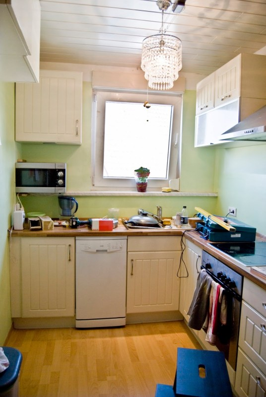 tiny kitchen before makeover - Pudel-design featured on @Remodelaholic