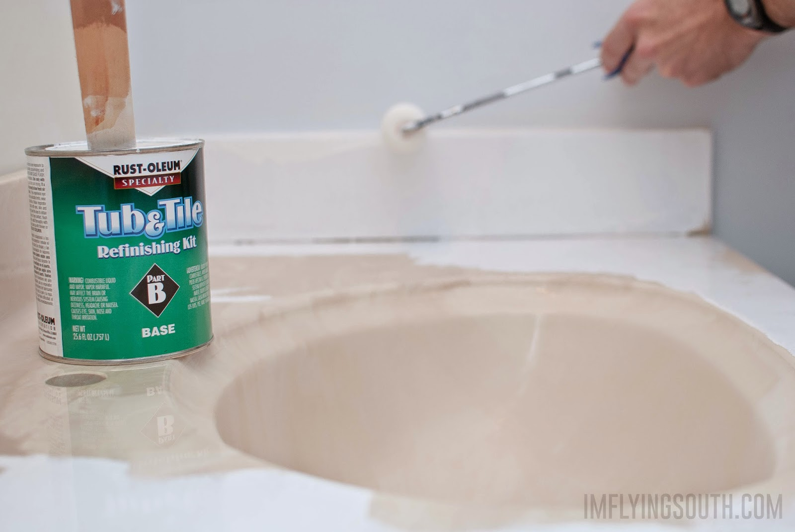 Merveilleux Use Tub And Tile Paint To Refinish An Integral Sink And Countertop Bathroom  Vanity   I