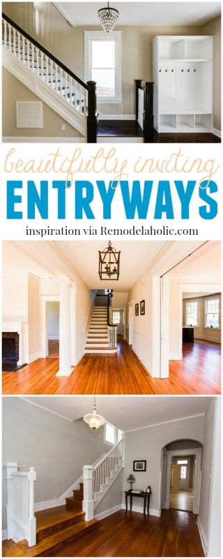 Beautifully Inviting Entryways @Remodelaholic