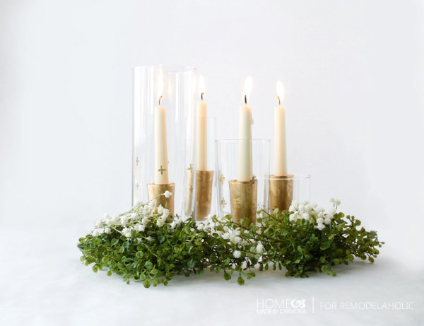 DIY shot glass candle holder table setting - Home made by Carmona for Remodelaholic