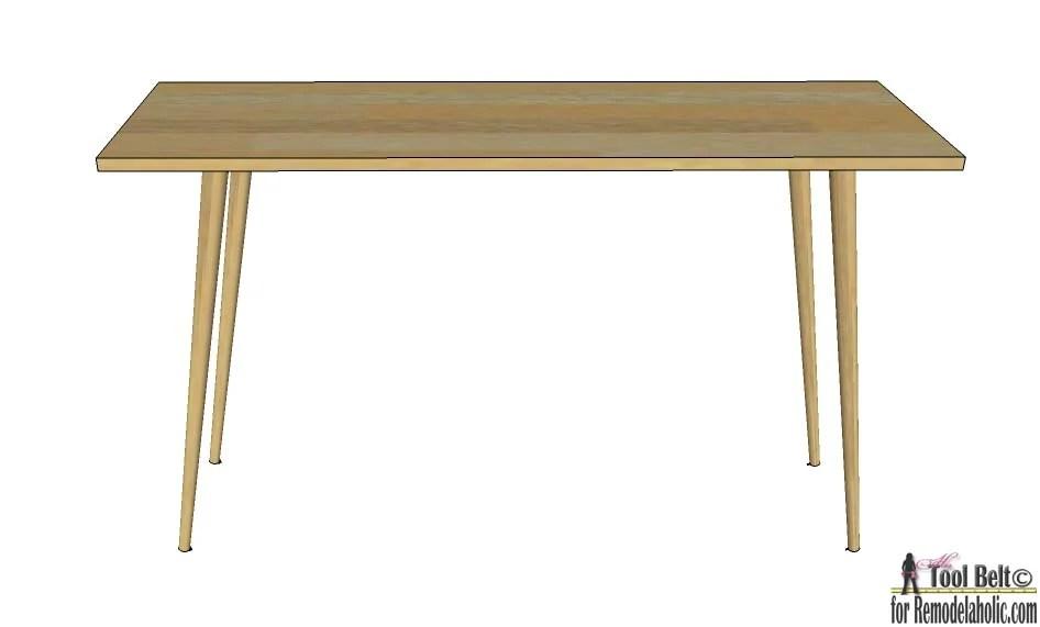 Super Remodelaholic Diy Mid Century Modern Desk Ncnpc Chair Design For Home Ncnpcorg