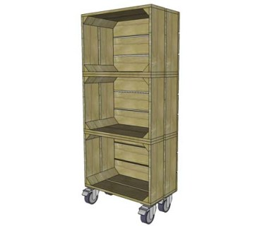 DIY Vintage Crate Shelf