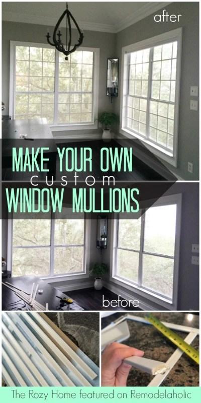 Tutorial: Custom Window Mullion Grids - The Rozy Home on @Remodelaholic