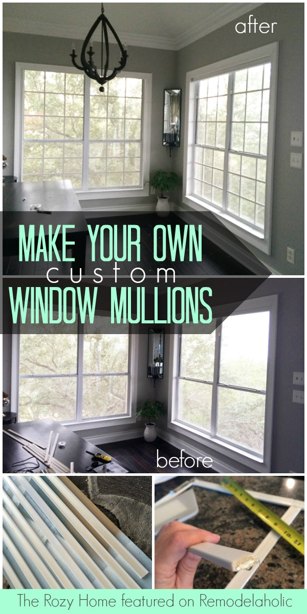 Tutorial: Custom Window Mullion Grids   The Rozy Home On @Remodelaholic
