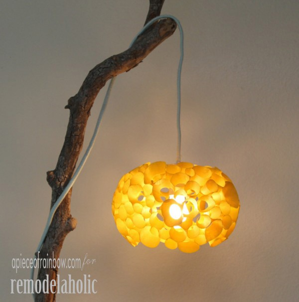 Remodelaholic Make A Coral Inspired Lamp
