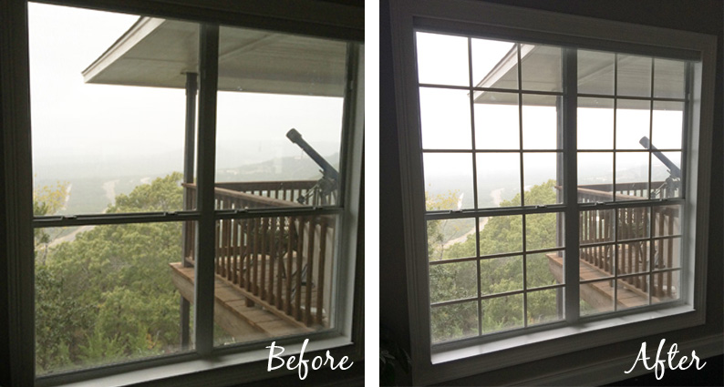 diy window mullion grids before and after - The Rozy Home featured on @Remodelaholic