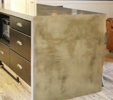 DIY Concrete Kitchen Island Reveal + How-To