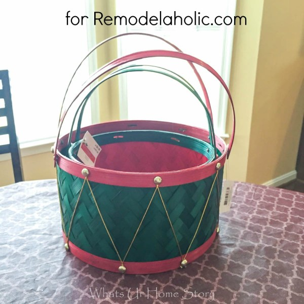 how to make painted storage baskets