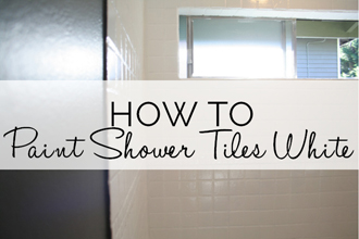 how to paint shower tiles white