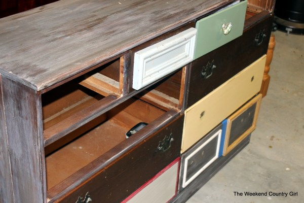 Create a rustic look with wood stain 06 by The Weekend Country Girl on @Remodelaholic