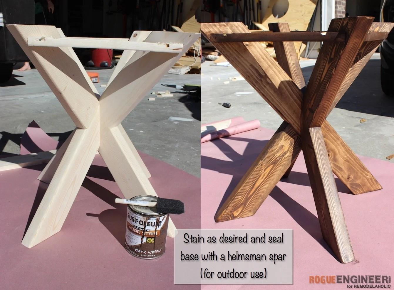 Remodelaholic Build It X Brace Concrete Side Table