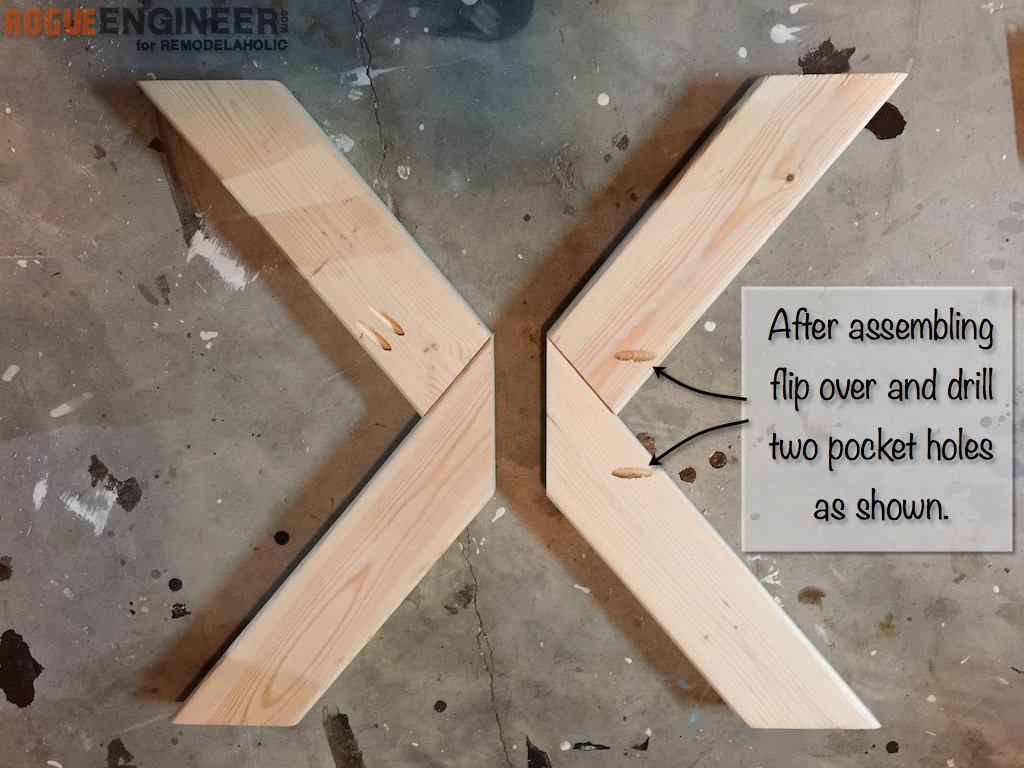 DIY X-Brace Concrete Side Table Plans | Step 5