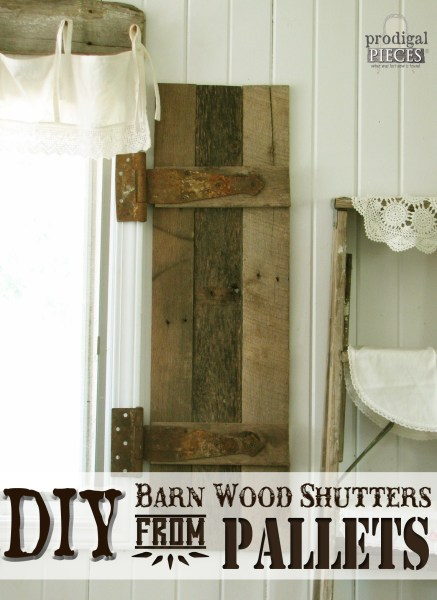 DIY Barn Wood Shutter from Pallets by Prodigal Pieces for Remodelaholic
