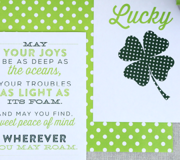 Printable St. Patrick's Day Art Signs