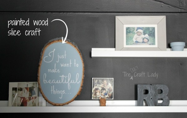 Floating shelves in a closet home office 2 - The Crazy Craft Lady featured on @Remodelaholic