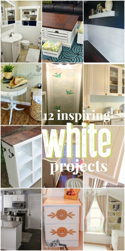 Great ways to use white in your home DIYs @Remodelaholic