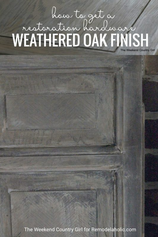How To Get A Restoration Hardware Weathered Oak Finish For All Of Your Projects Featured On Remodelaholic.com