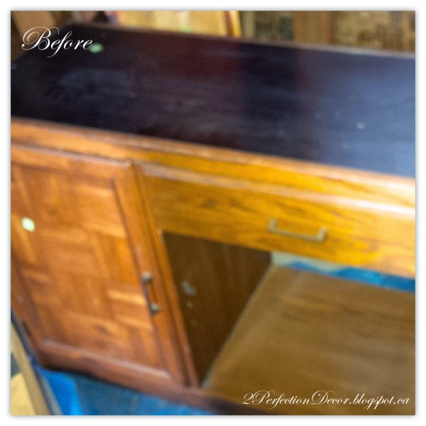 How to revamp this vintage desk into a kitchen island02 by 2Perfection Decor featured on @Remodelaholic