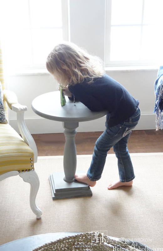 Kid-tested DiY Accent Table