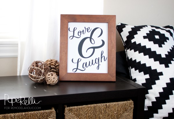 Love and Laugh Printable @Paperelli @Remodelaholic