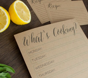 Get Organized with Meal Planning Printables