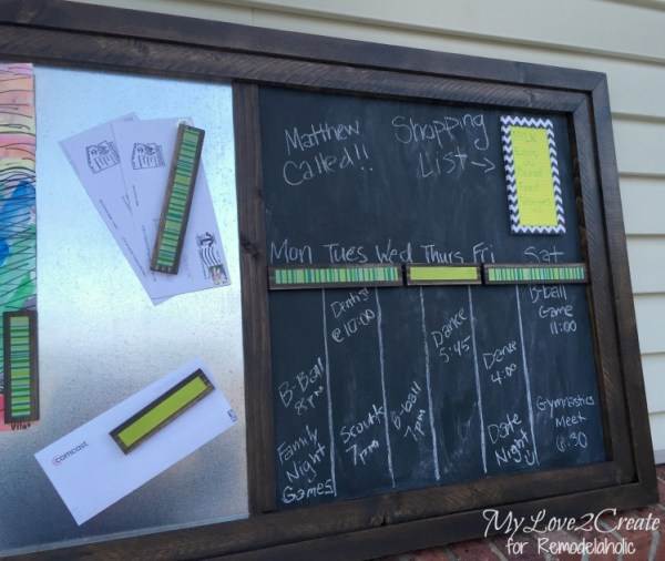 metallic chalkboard