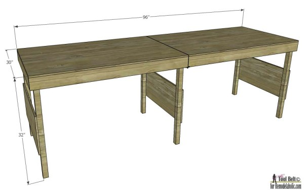 Portable workbench- overall dimensions